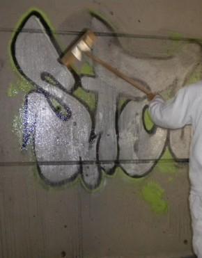 Aplicaciones con Graffiti Remover Silver
