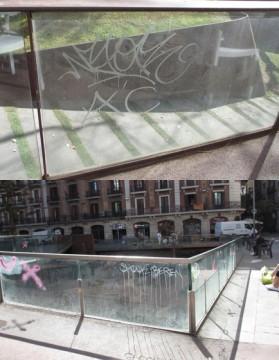 Aplicación Láminas antigraffiti